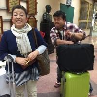 漆原さんと村松さん。 会場入りした所をパシャ!