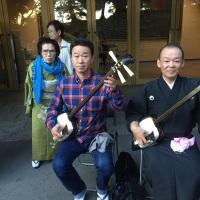 小山竜浩さん浩秀さんと後ろの気合い入って居るのは、母(照子)。母は目が悪いのでアシカラズです。